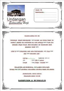 HOBBIES N EDUCATION: Free Download Template Undangan Haji MS Word