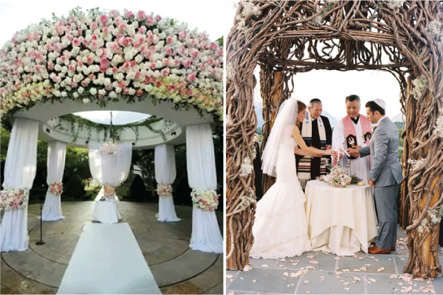 Memorable wedding looking for the perfect altar decorations for Altar decoration wedding