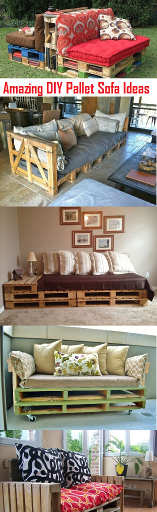 Amazing DIY Pallet Sofa Plans And Ideas Herbs & Oils