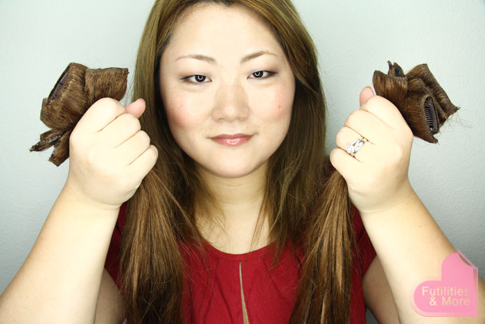 Hair Clip Extensions In Light Brown , human hair, extensions, light brown hair, makeup and beauty blog, asian eyes, asian monolid, single lid, makeup tutorial, makeup reviews, product reviews, cosmetics, make up, makeup, maquillage, tuto, tutorial, tutoriel, yeux, asiatique, futilitiesandmore.blogspot.com, futilities and more, futilitiesandmore, futilitiesmore