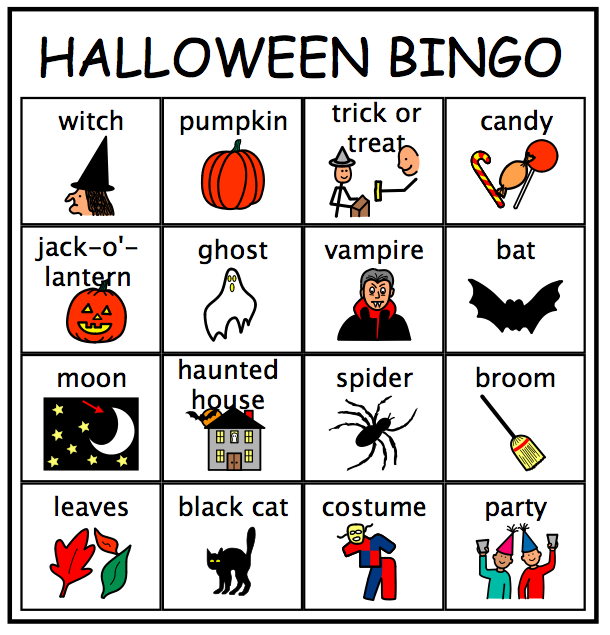 halloween bingo using our halloween vocabulary words - Halloween Vocab Words