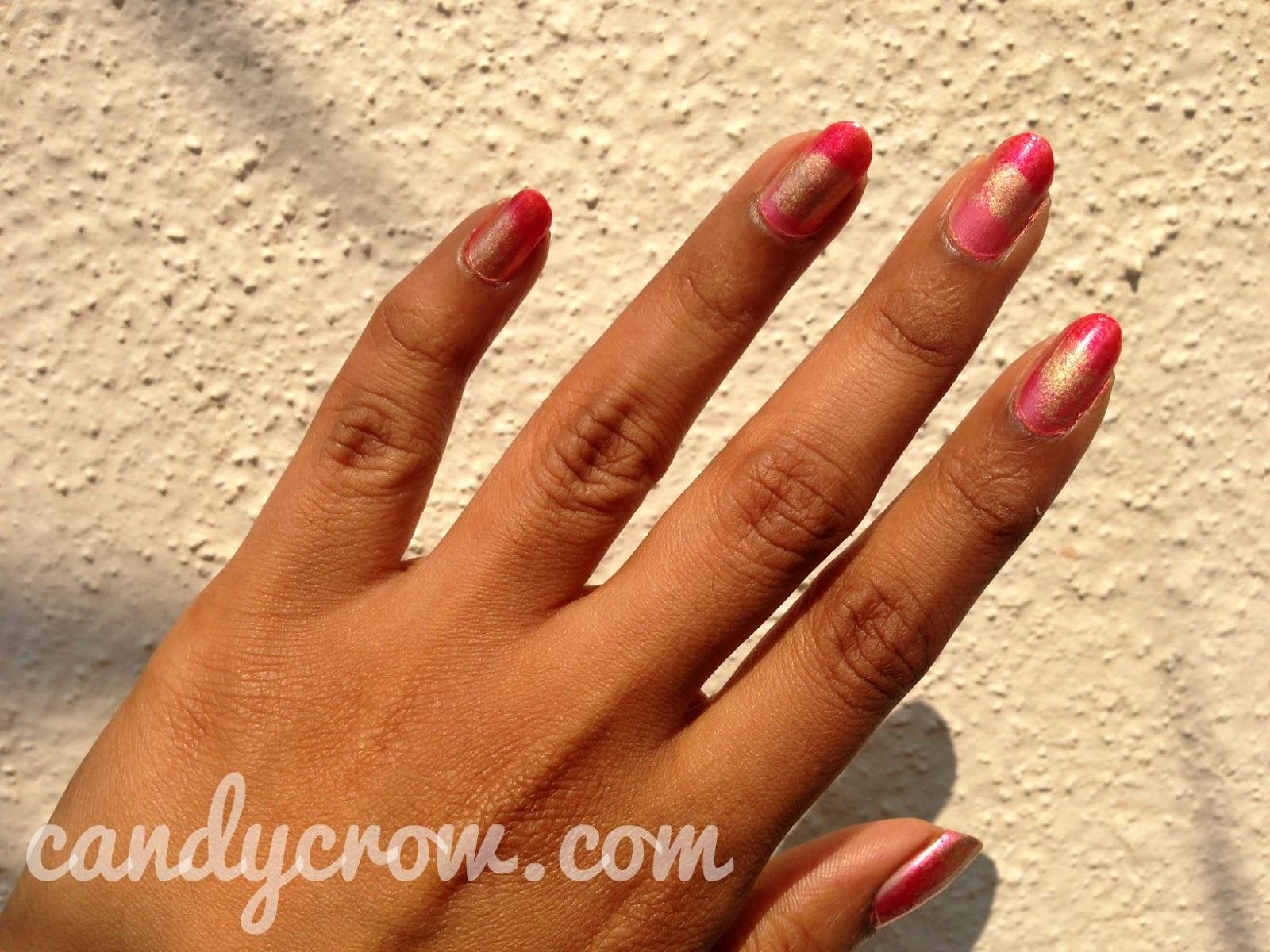 Pink Gradient Nail Art