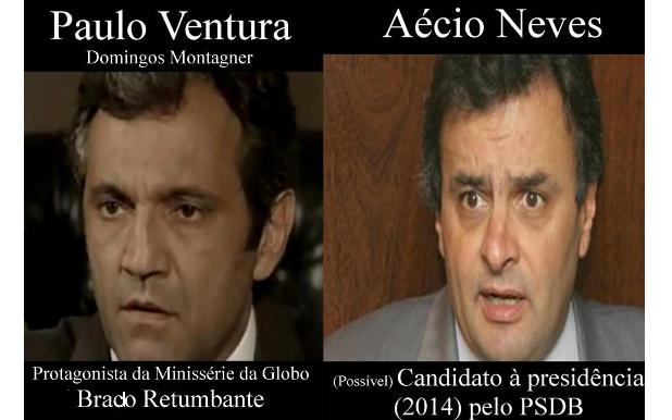 sosia aecio neves PSDb manipulação Rede globo Domingos Montagner eleições 2014