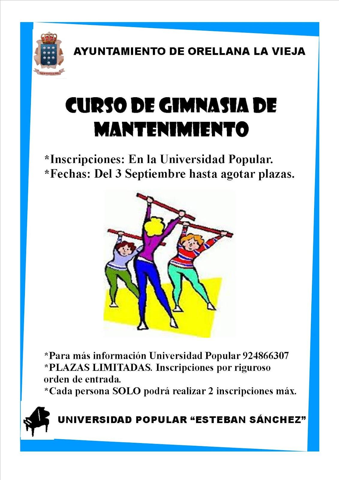 CURSO DE GIMNASIA DE MANTENIMIENTO