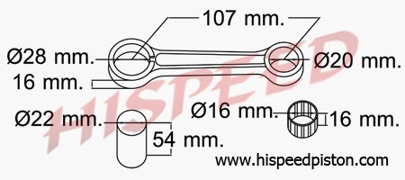 WHY45 MOTOR Spesifikasi Connecting Rod Stang Seher Yamaha