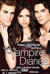 THE VAMPIRE DIARIES 1A CONVENTION IN ITALIA -LOVE E BLOOD ITACON- DAL 31/05 AL 02/06  PERUGIA 2013