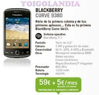 BlackBerry Curve 9380 por 59€ más pago a plazos en febrero 2013