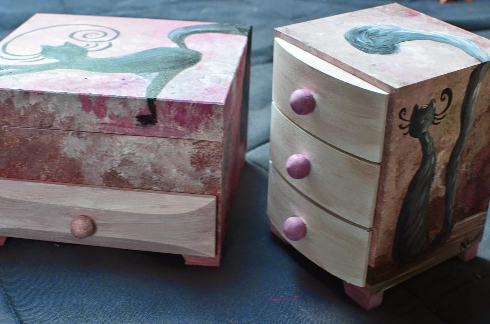 kot szkatułka pudełko na biżuterię