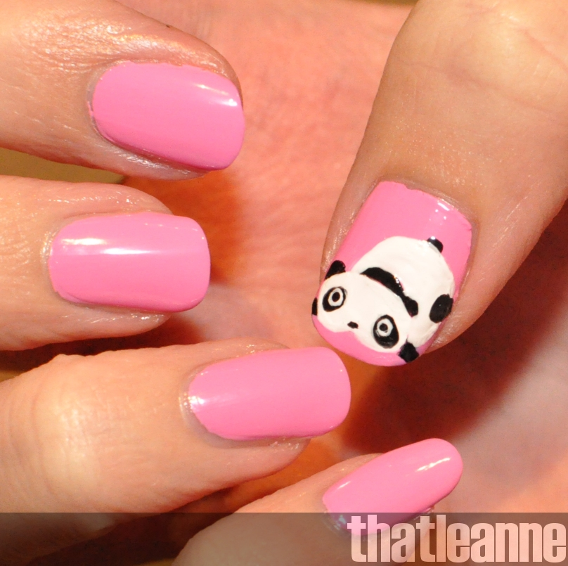 thatleanne: Tare panda nail art