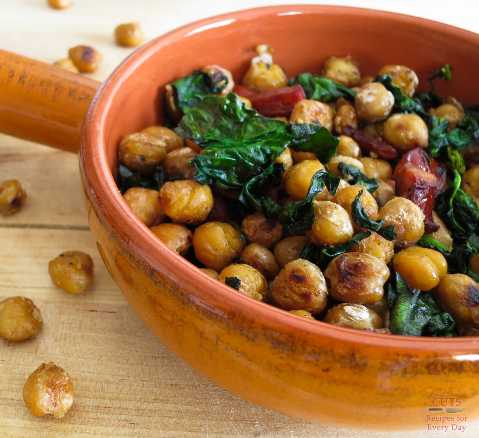 Chickpeas With Spinach Recipe — Dishmaps