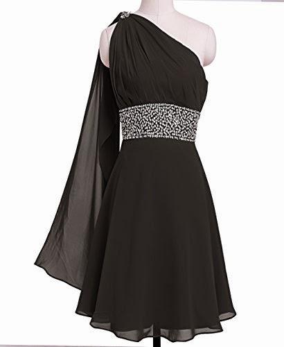 Chiffon Ribbon One-shoulder Bridesmaid Homecoming Party Dress