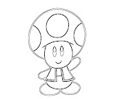 #8 Toad Coloring Page