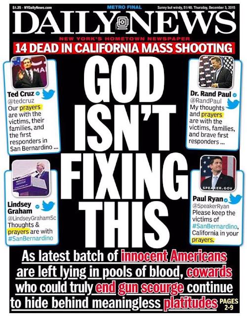 NY Daily News: GOD ISN'T FIXING THIS