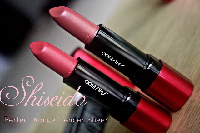 Shiseido Perfect Rouge Tender Sheer Lipstick in RD503 & RD506 - Review, Photos & Swatches