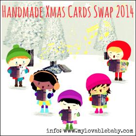 Handmade Xmas Cards Swap 2014
