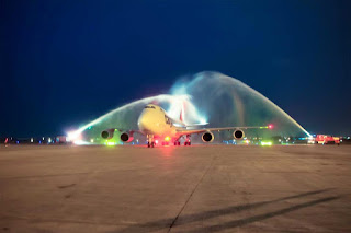 The Boeing 747-8 has served its 100th airport just 16 months after entering service
