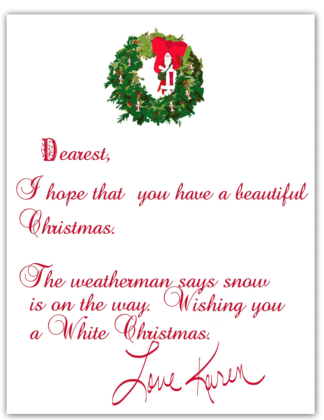 Christmas Card Letter Samples Pictures to Pin PinsDaddy – Christmas Card Letter Templates