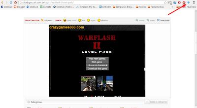 Baixando um game em Flash do Click Jogos