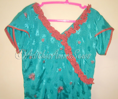 Adithis Amma Sews - Cute Confessions of a Sew Addict: Teal N Pink ...