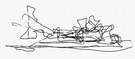 Croquis-Guggenheim-Bilbao-Frank Gehry-Arquitectura iconográfica
