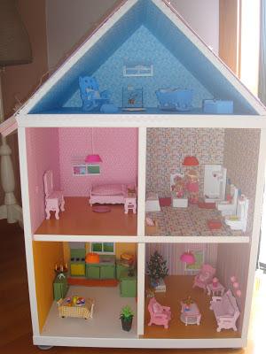 como fazer casa de bonecas