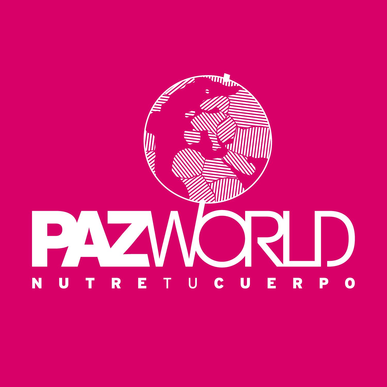 Logo. PazWorld (versión negativo)