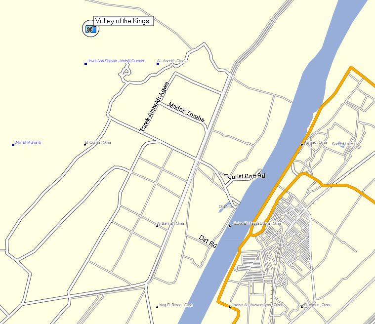 GPSTravelMapscom Valley Of Kings Egypt Map - Map of egypt showing valley of the kings