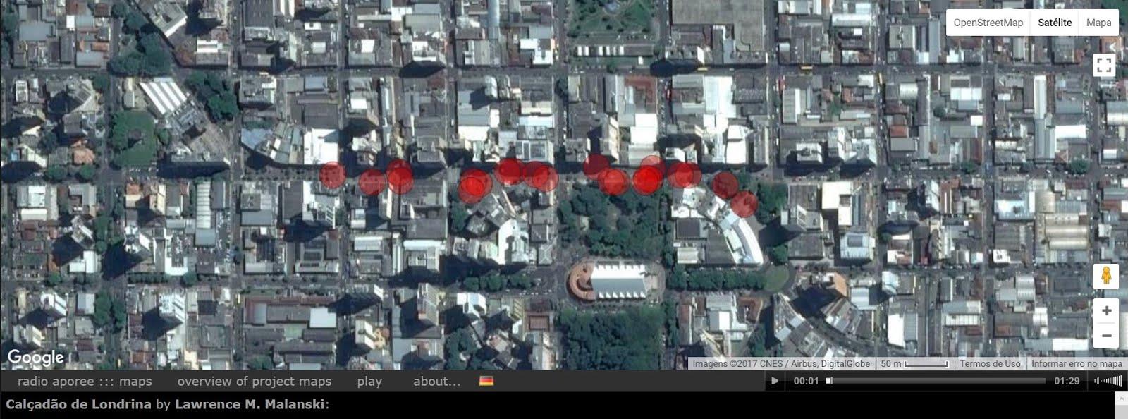 Mapa sonoro do Calçadão de Londrina