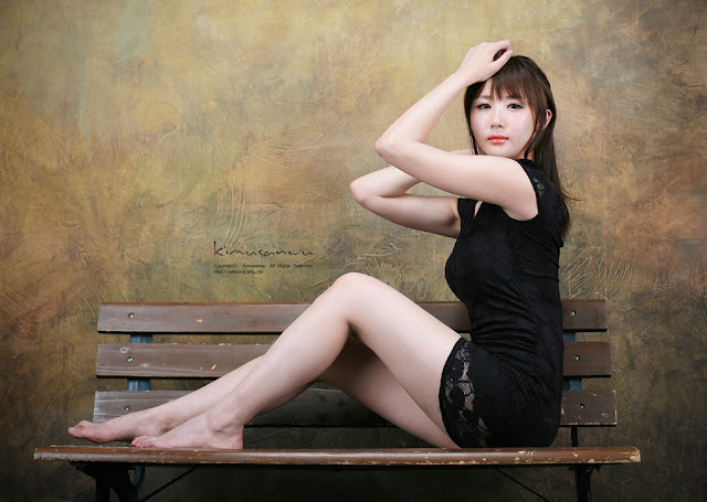 4 Yeon Da Bin in Black-Very cute asian girl - girlcute4u.blogspot.com