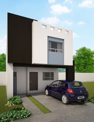 fachada casa moderna Galia