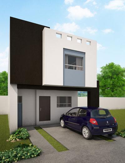 Fachadas de casas modernas fachada modelo galia en los for Diseno exterior casa contemporanea