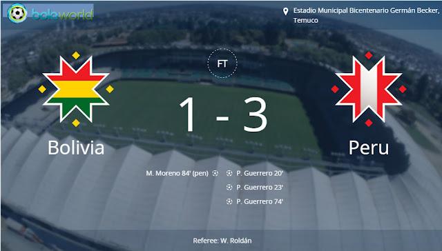 Bola World - Game Online Bola - Bolivia 1 - 3 Peru
