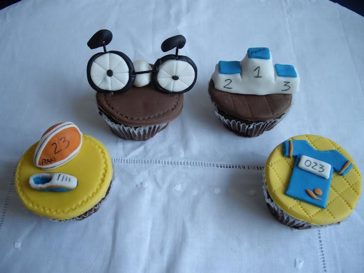 Cupcakes de duatlon