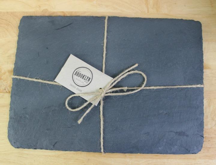 cheese board from Brooklyn Slate Co.
