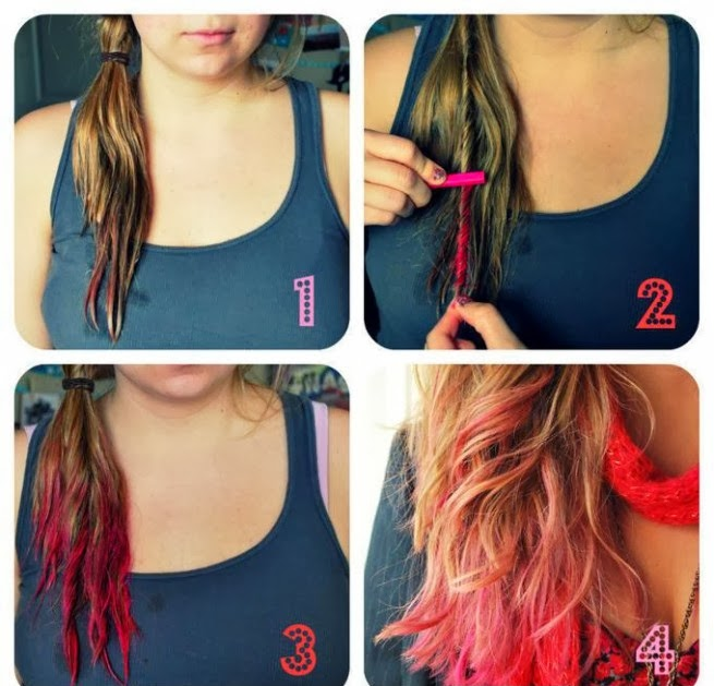 Яркие краски для волос 61