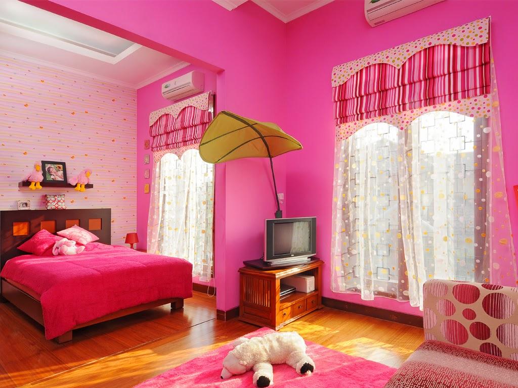 Interior desain kamar tidur anak remaja putri