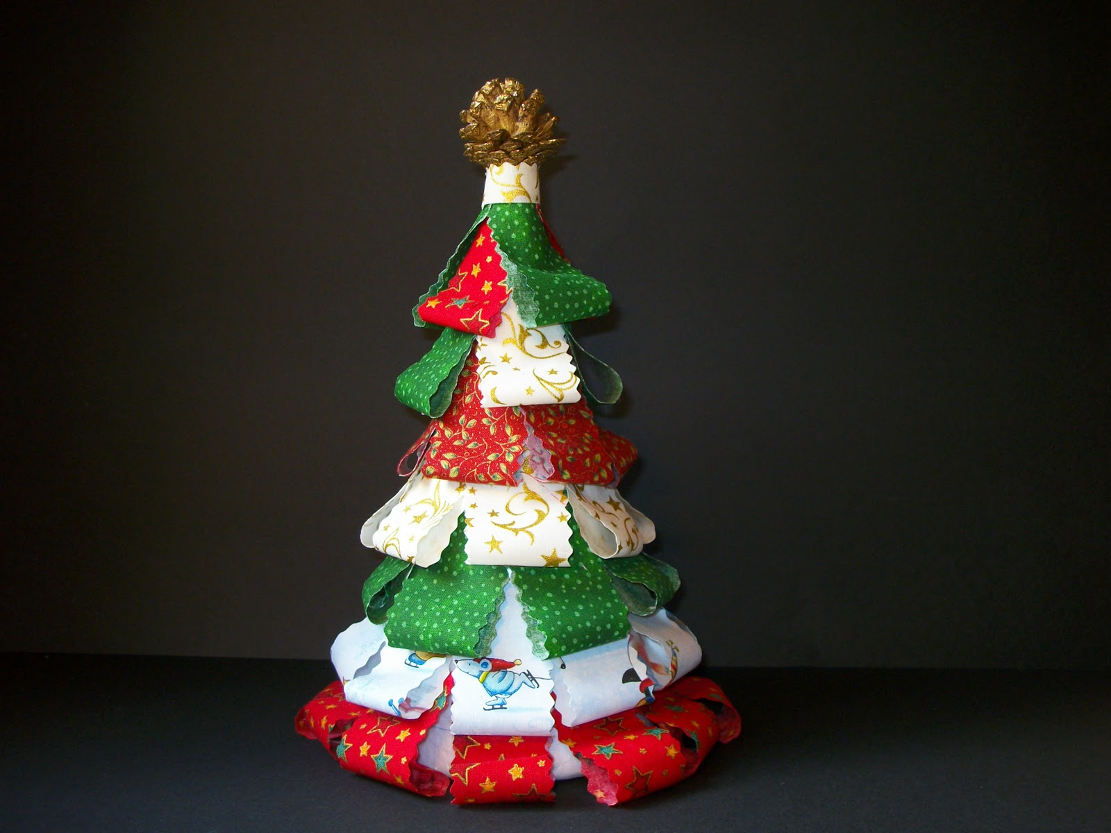 Las labores de la abuela kiki arbol de navidad - Arbol navidad tela ...