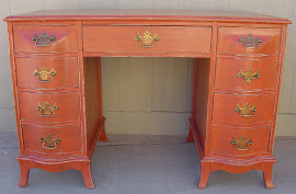 Burnt Orange Desk (SOLD)