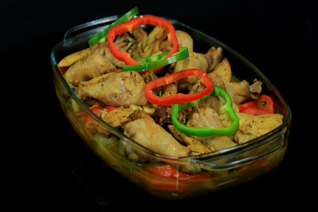 صينية دجاج بالخضروات