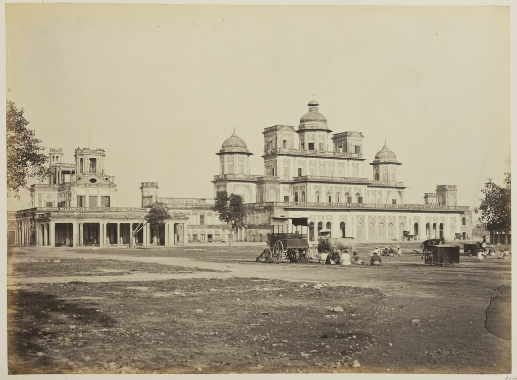 Bara Chattar Manzil And Farhat Bakhsh View From The South Lucknow 1862 Old Indian Photos