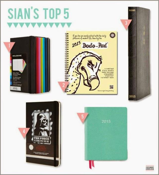 Sians top 5 2015 diaries