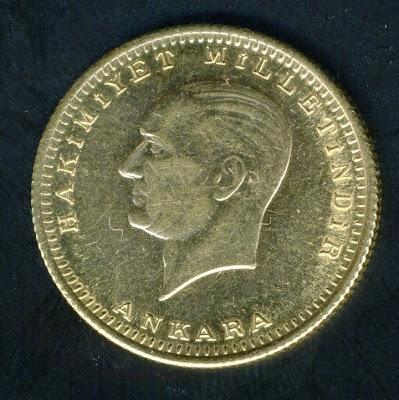 Turkish Gold Coins 100 Kurush Ataturk