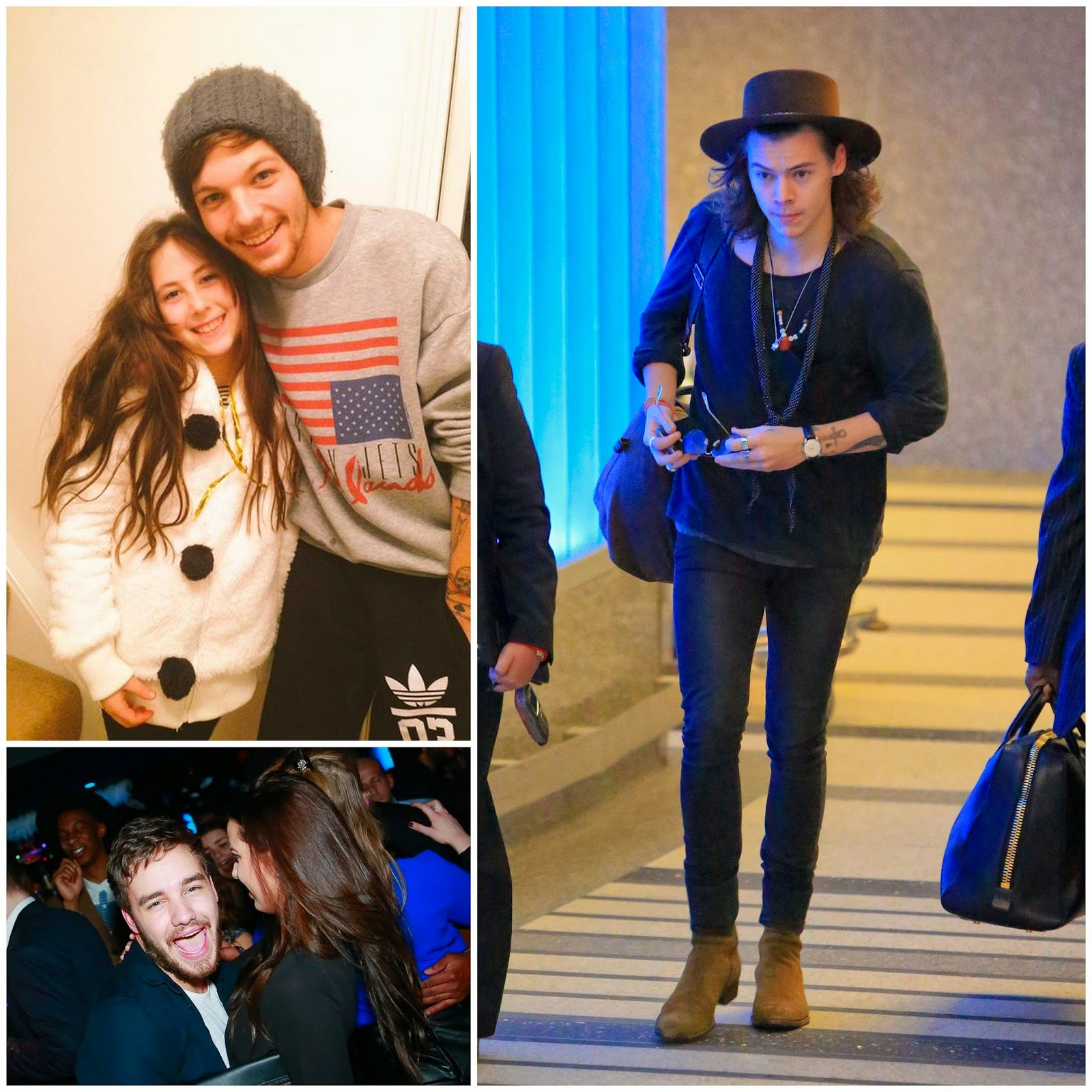 02.01.15,  harry styles, liam payne, louis tomlinson, one direction,  london, heathrow, lax, airport, fans, eden dora trust, sophia smith, funky buddha