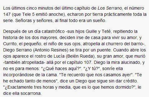 Final de 'Los Serrano', sueño de Resines, Diego Serrano