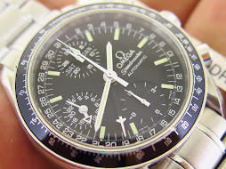 OMEGA SPEEDMASTER CHRONOGRAPH BLACK DIAL-POINTER DATE-24 HOURS INDICATOR-DAY AND MONTH-AUTOMATIC