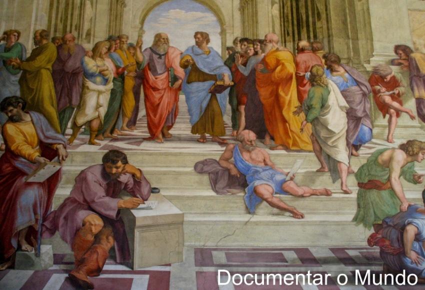 Sala da Assinatura-Escola de Atenas