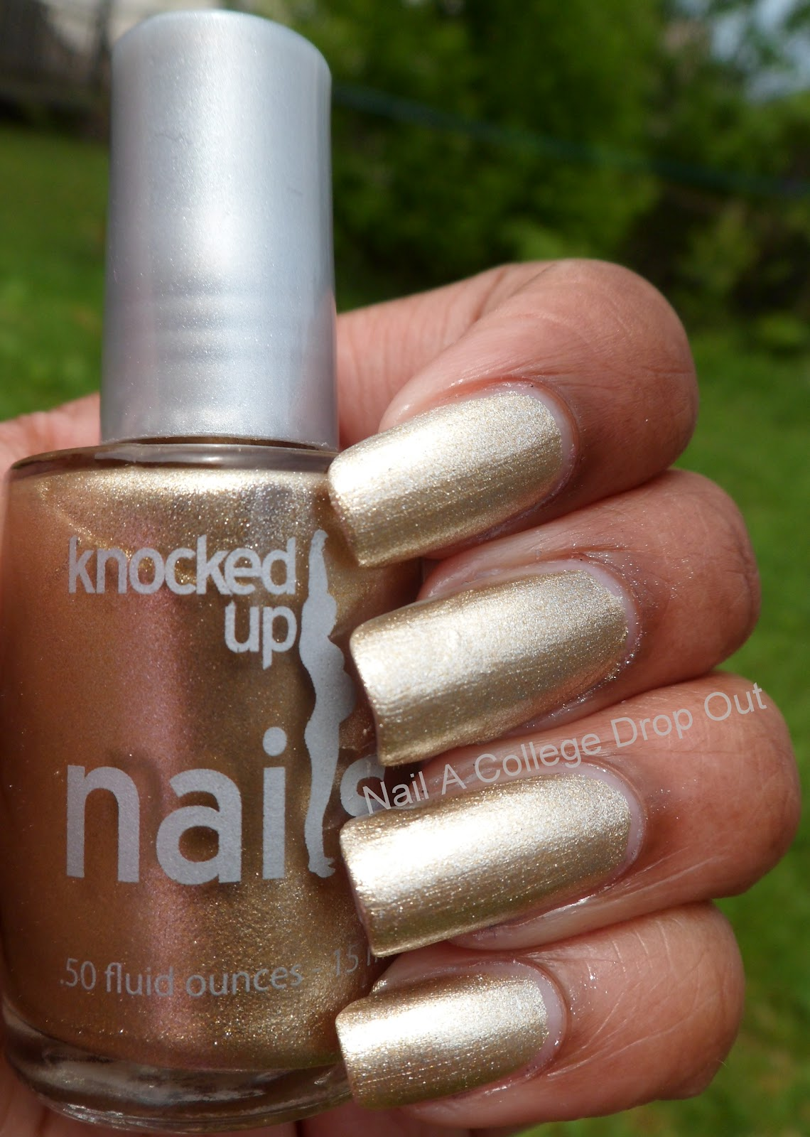 Nail A College Drop Out: Knocked Up Nails 18K Gold Crown(ing)