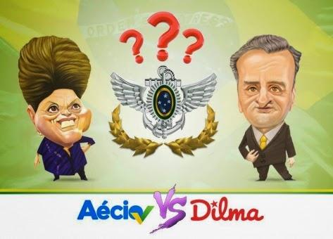 Comentando o  debate entre tia Dilma e Aécim no Facebook