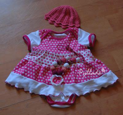 платье-боди для девочки 6 месяцев