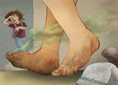 Menghilangkan Bau kaki